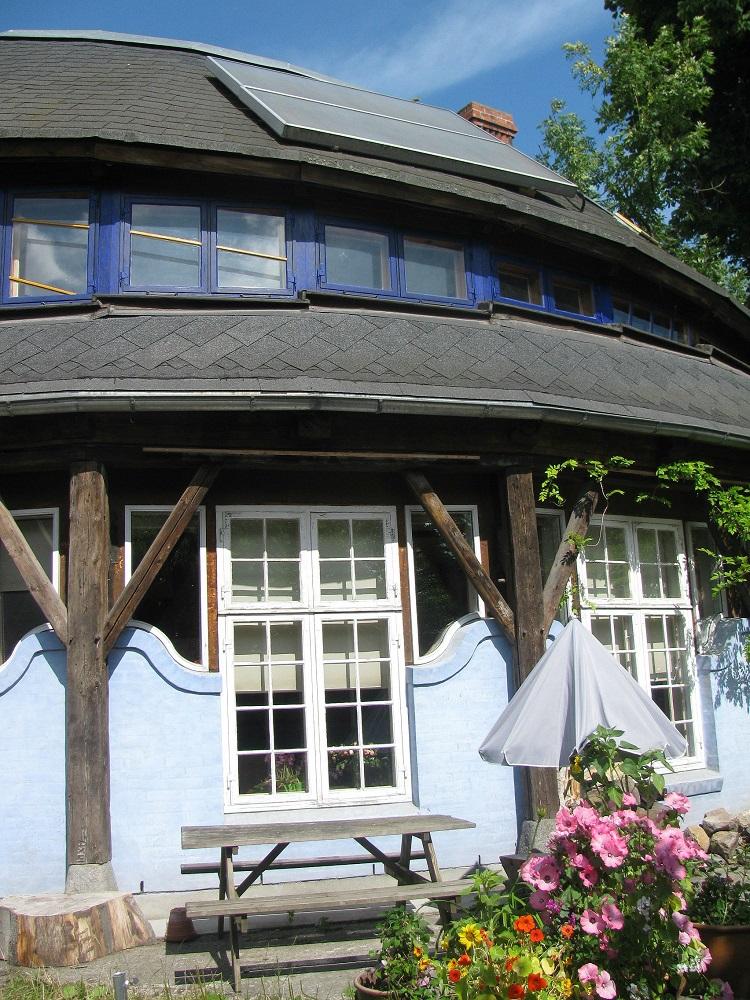 Een huis in de vrijstaat Christiania te Kopenhagen