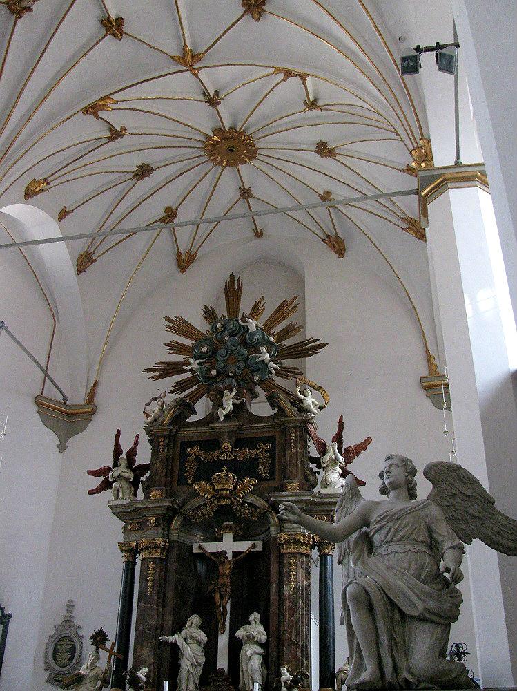 Interieur van de Trinitatis Kirke te Kopenhagen