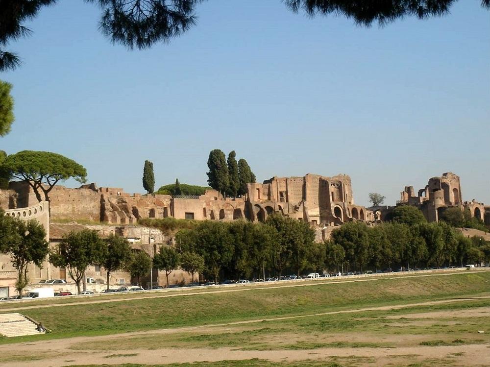 Overzicht van het Caracalla thermen complex te Rome