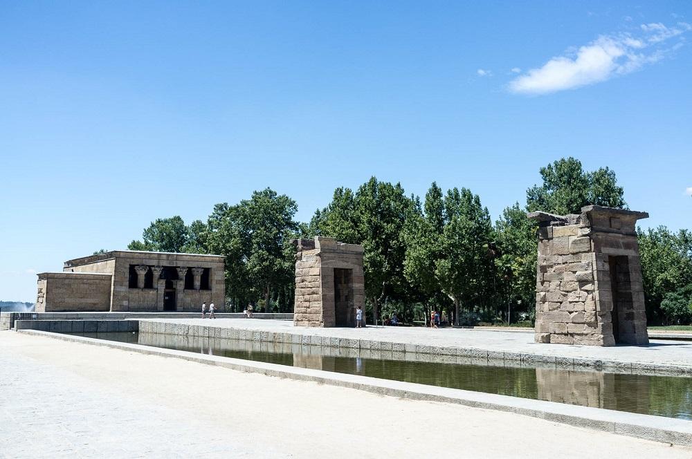 De Egyptische tempel uit Debod (Temple de Debod) te Madrid