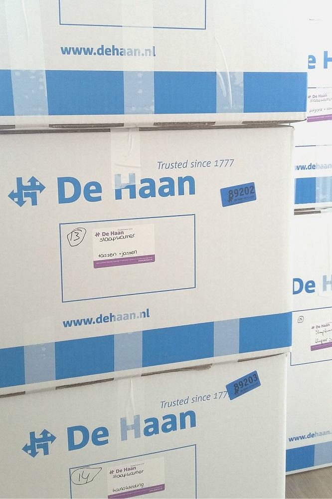 Verhuisdozen van De Haan