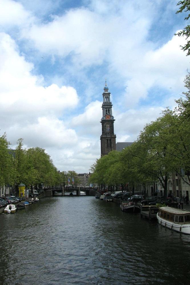 De Westertoren aan de Prinsengracht te Amsterdam