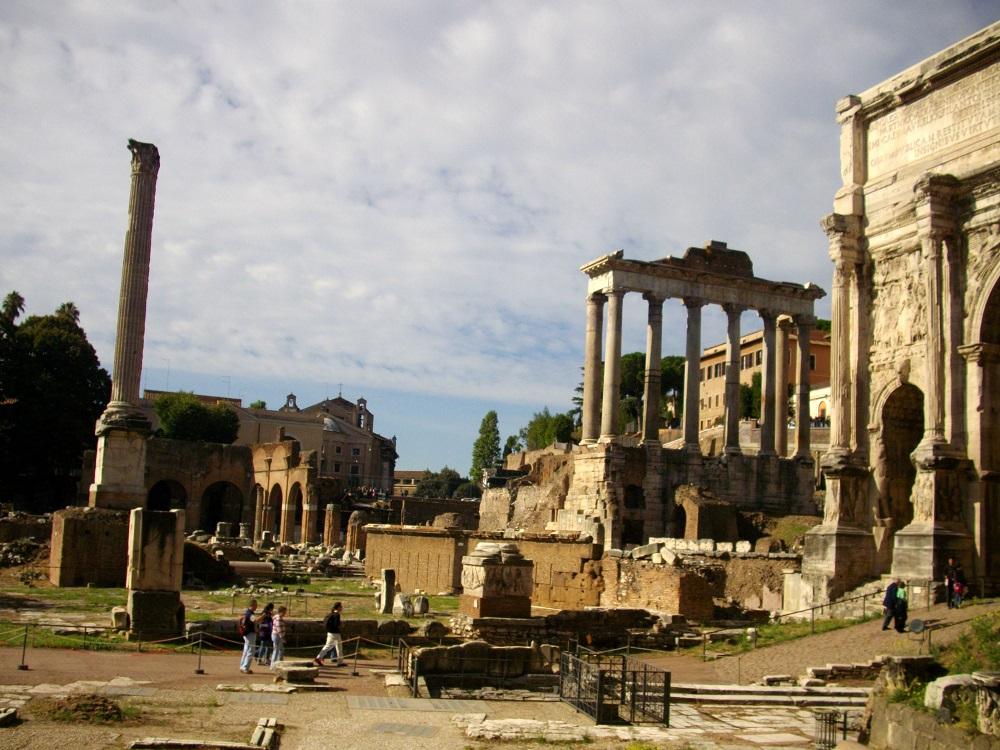 Ruines op het Forum Romanum te Rome
